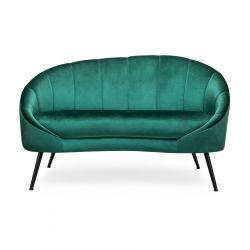 NEVOY Sofa szmaragdowa 138x75x88 cm