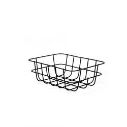 VOSS Kosz metalowy czarny 25,5x18,5x9 cm