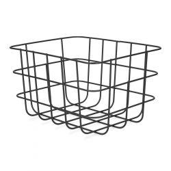 VOSS Kosz metalowy czarny 25,5x20,5x15 cm