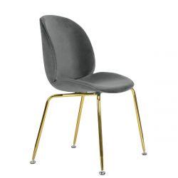 SVELTE Krzesło szare 51x48x84 cm