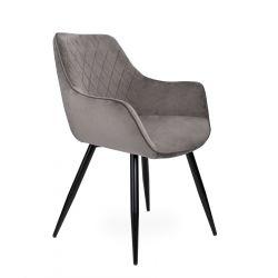 SHELTON NEW Krzesło szare 66x57x88 cm