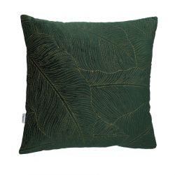 SENES Poszewka dekoracyjna ze zdobieniami zielona 45x45 cm