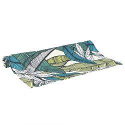 LORETO Bieżnik we wzór zielony 40x160 cm