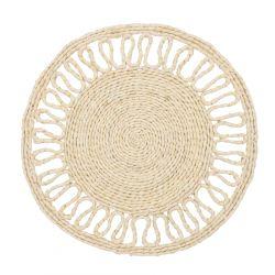 PANAL Podkładka do jadalni okrągła naturalna 37 cm