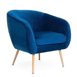 PAXTON Fotel granatowy 75x52x81cm