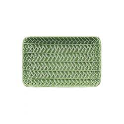 BABABOI Taca prostokątna we wzór liści 20x13x3 cm