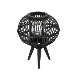 MASAYA Lampion ogrodowy czarny 29x40 cm
