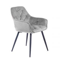 CHERRY Krzesło szare 57x63x84 cm