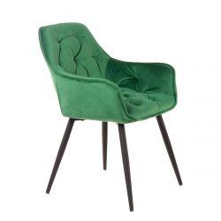CHERRY Krzesło zielone 57x63x84 cm