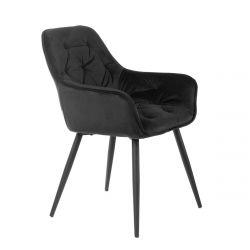 CHERRY Krzesło czarne 57x63x84 cm