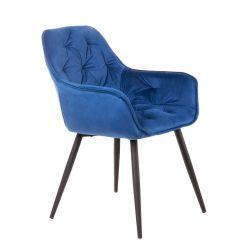 CHERRY Krzesło granatowe 57x63x84 cm
