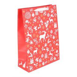 CELEBRITE CHRISTMAS RED Torba papierowa 30x41 cm