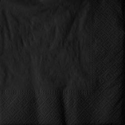 BASIC Serwetki papierowe czarne 20 szt. 33x33 cm