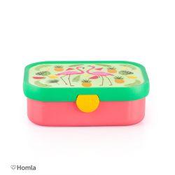 FLAMINGO Pojemnik na lunch w kolorowe wzory 18x13x6 cm