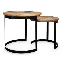 HARVEY Zestaw stolików kawowych 53x51/43x43 cm
