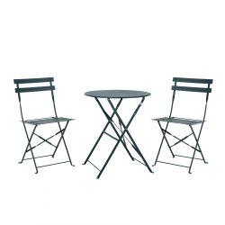 JARDIN Zestaw stolik i krzesło granatowy 3 szt.