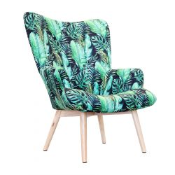 MOSS BOTANIC Fotel z motywem liści 72x96 cm