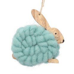 BENVE Zawieszka królik turkusowa 10 cm