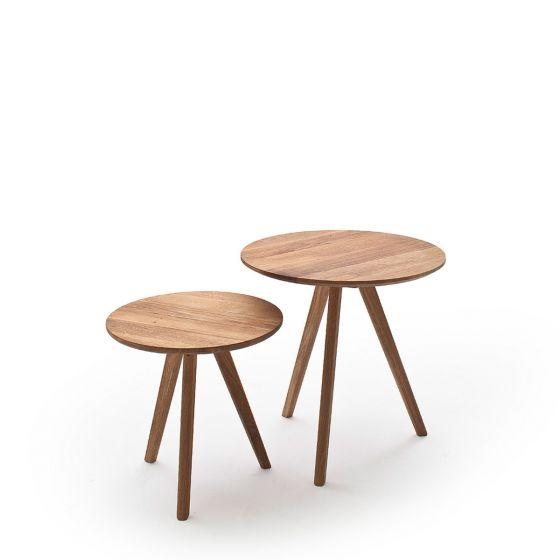 SENE Zestaw stolików drewnianych 50x50x45 cm