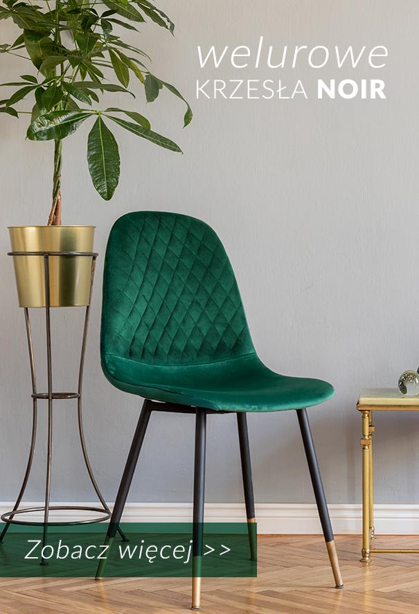 Welurowe krzesła NOIR w czterech kolorach