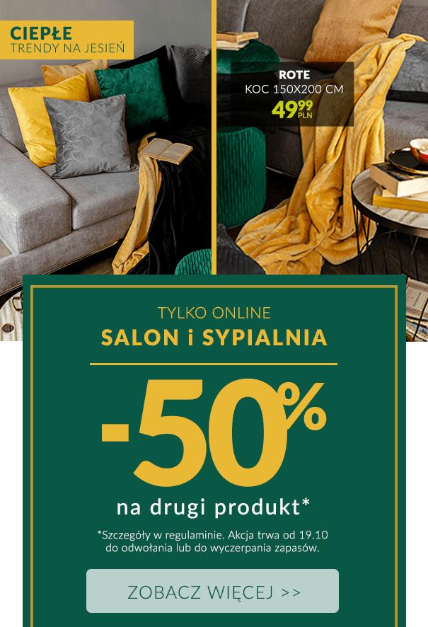 Drugi produkt -50% z kategorii Salon i Sypialnia