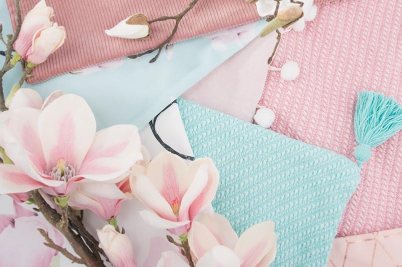 magnolia romantic - pastelowe koce i poduszki