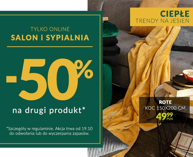 Salon i Sypialnia -50 na drugi produkt